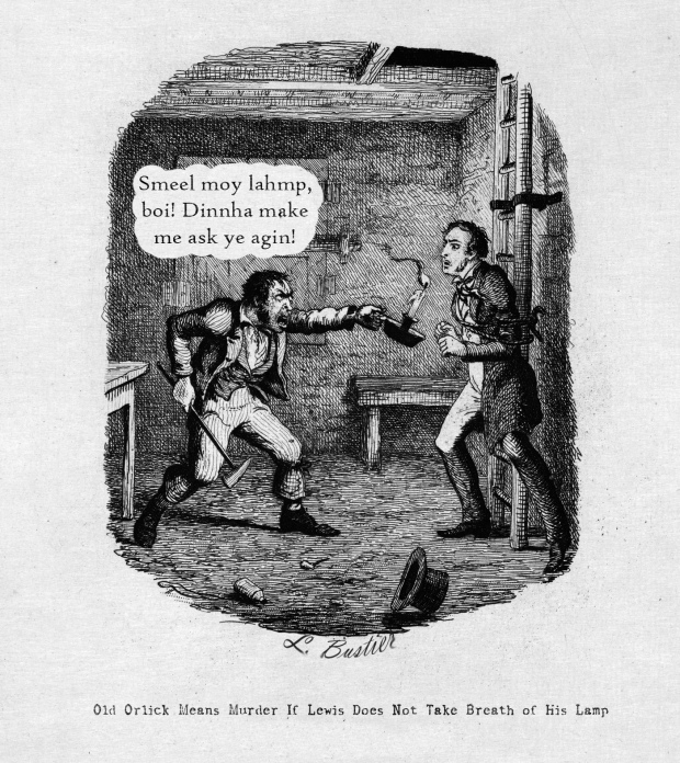 Comic panel from Pantworthy's Weekly, 1878