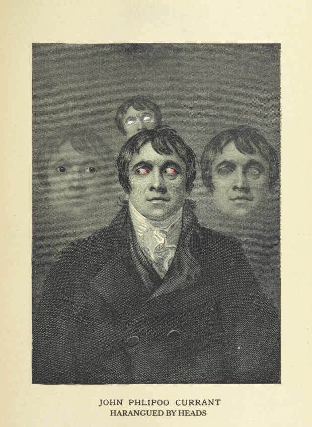 "Engraving of John Philpoo Currant, from ""Prominent Londoners Afflicted By Cerebroapparitions,"" 1828"