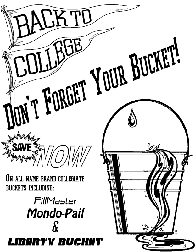 Bucket Sale Flier, 1992