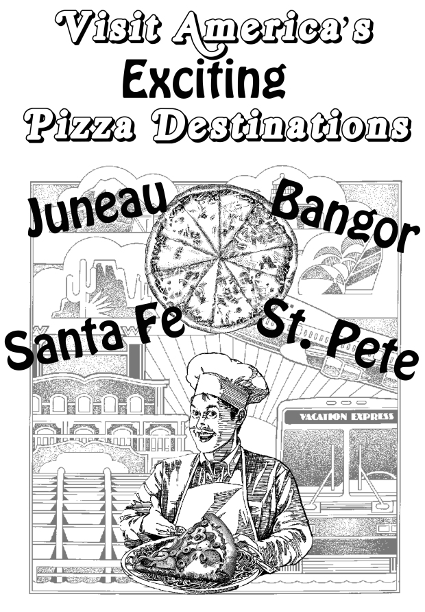 Pizza Destinations Flier, 1992